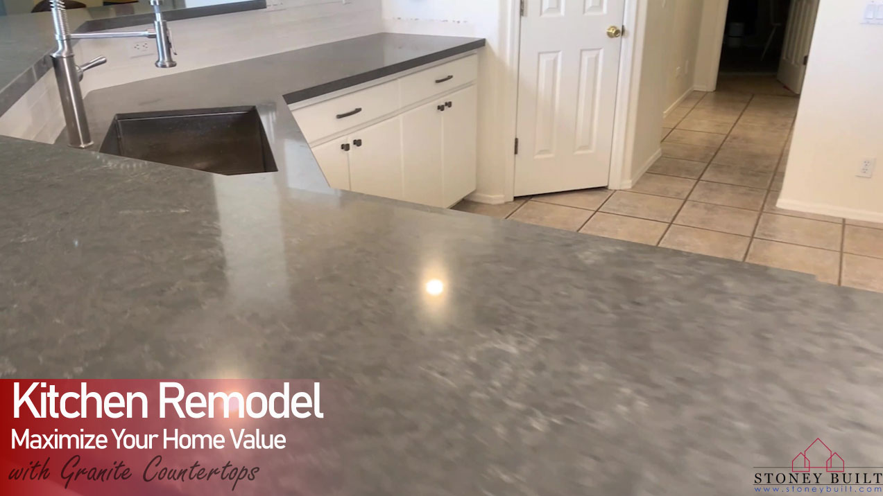 Granite Countertops & Tile Backsplash on 63rd Place | Stoney Built