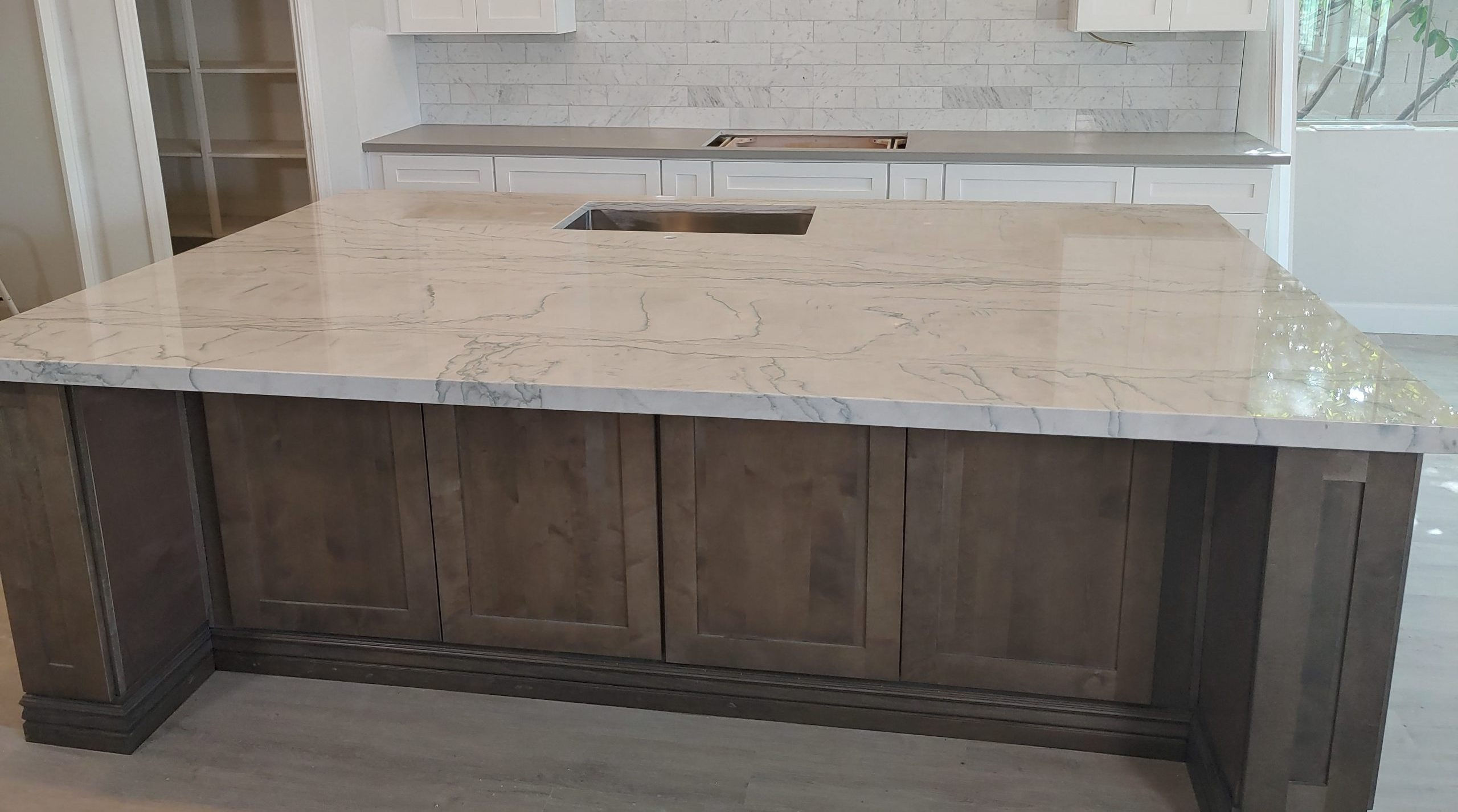 Custom Island with Quartzite Countertop | Stoney Built